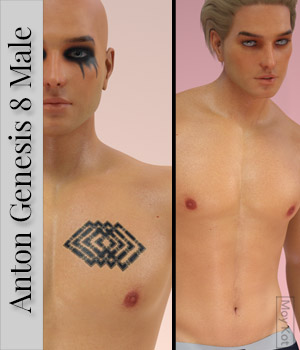 MYKT Anton for Genesis 8 Male 3D Figure Assets MoyKot