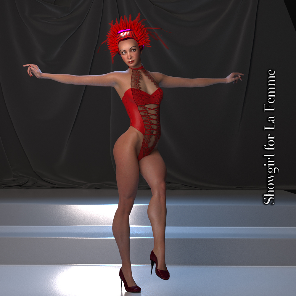 Showgirl for La Femme by Glitterati3D