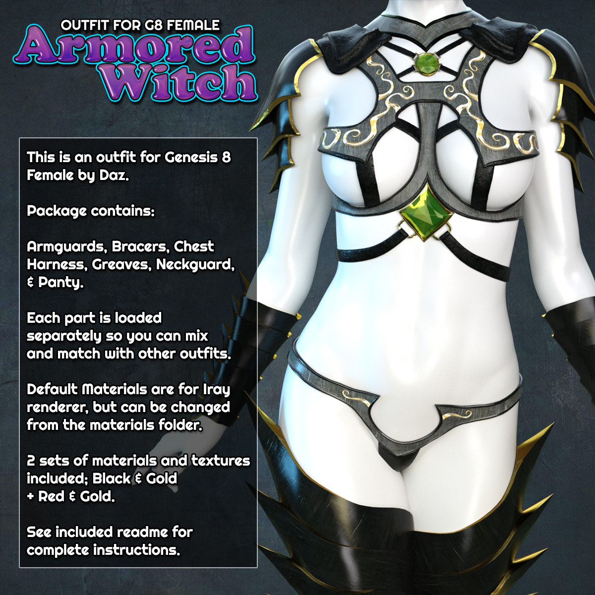 Exnem Armored Witch for G8 Female