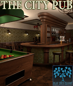 The City Pub for Poser 3D Models BlueTreeStudio