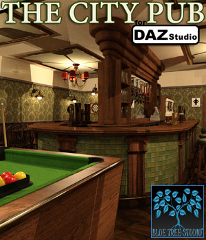 The City Pub for Daz Studio 3D Models BlueTreeStudio