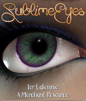 Sublime Eyes for La Femme Merchant Resource 3D Figure Assets La Femme Female Poser Figure Merchant Resources 3DSublimeProductions