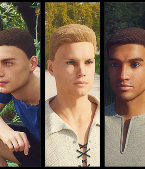 Neat Haircut Hair For Genesis 8 Male 3D Figure Assets Kungh