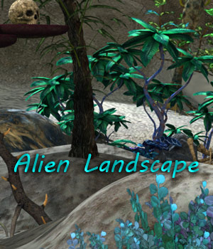 FB Alien Landscapes 2D Graphics fictionalbookshelf