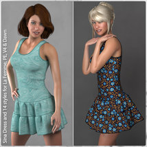 Sina Dress and 14 Styles for La Femme, V4, PE and Dawn image 1