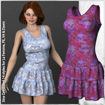 Sina Dress and 14 Styles for La Femme, V4, PE and Dawn image 2