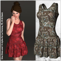 Sina Dress and 14 Styles for La Femme, V4, PE and Dawn image 3