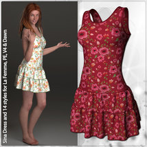 Sina Dress and 14 Styles for La Femme, V4, PE and Dawn image 4