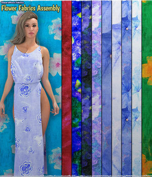 ShaaraMuse Fabrics: Flower Fabric Assembly 2D Graphics Merchant Resources ShaaraMuse3D