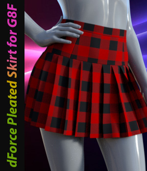 dForce Pleated Skirt for G8F 3D Figure Assets Tanya_Littlefox