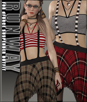 Runway for Suspenders Outfit 3D Figure Assets Sveva