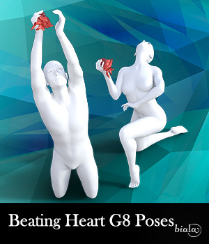 Beating Heart Poses for G8M and G8F 3D Figure Assets biala