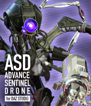 Advance Sentinel Drone for DAZ 3D Models winnston1984