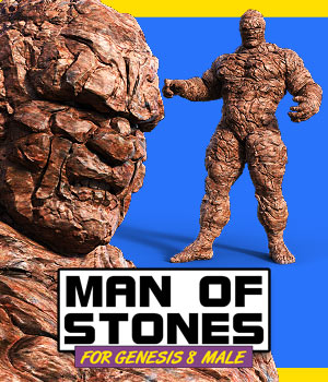 Man Of Stones for G8M 3D Figure Assets powerage