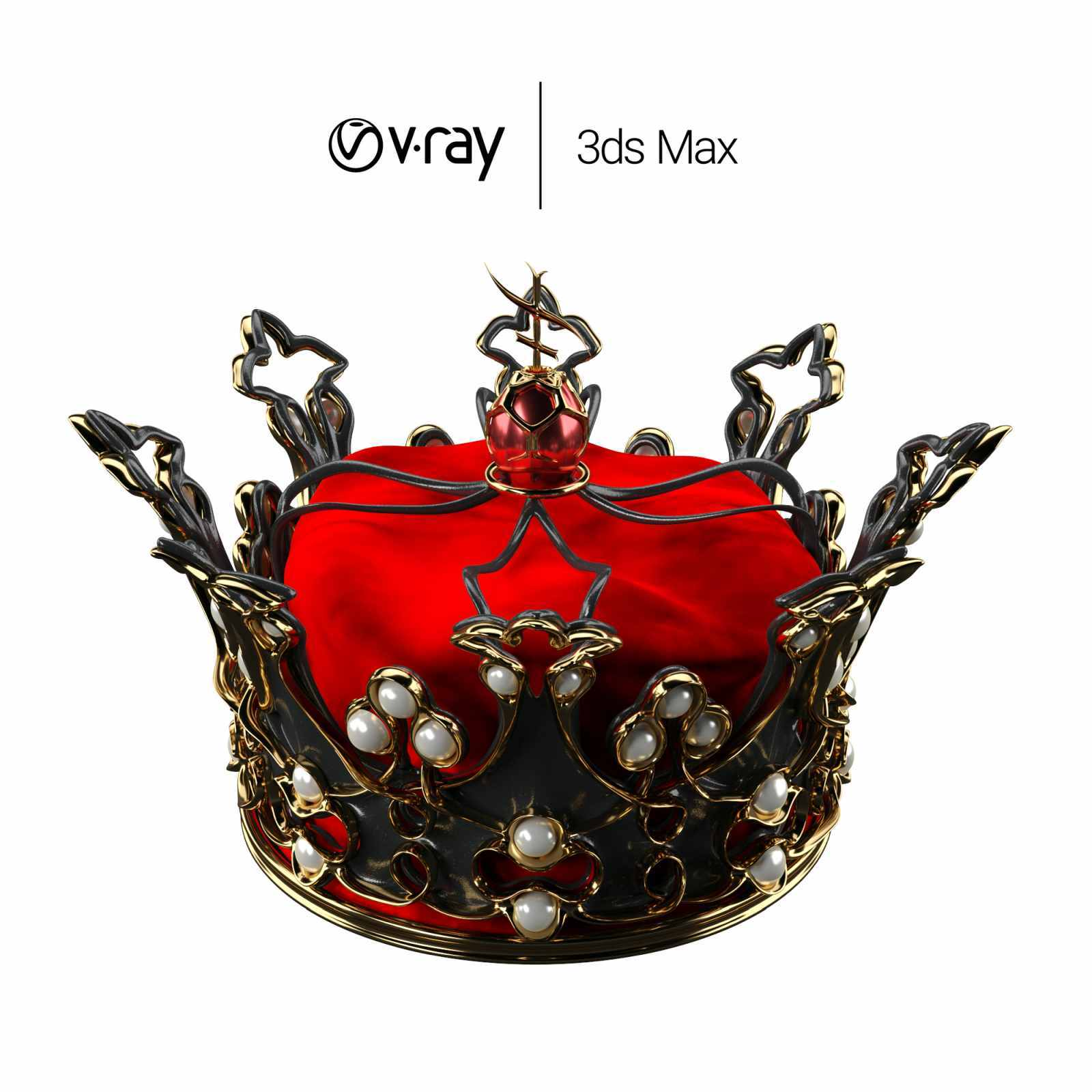 Queen's Crown for 3ds Max - Extended License by Nabi