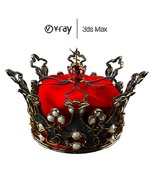 Queen's Crown for 3ds Max - Extended License 3D Figure Assets 3D Game Models : OBJ : FBX Extended Licenses Nabi