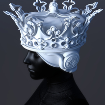 Queen's Crown for 3ds Max - Extended License image 2