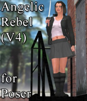 Angelic Rebel for V4 and Poser 3D Figure Assets VanishingPoint