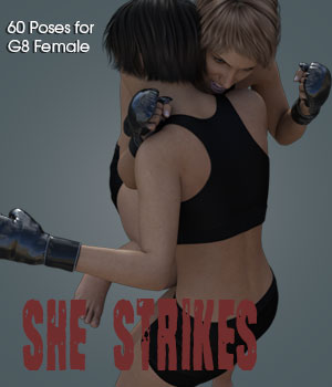 SHE STRIKES! for Genesis 8 Female 3D Figure Assets PainMD