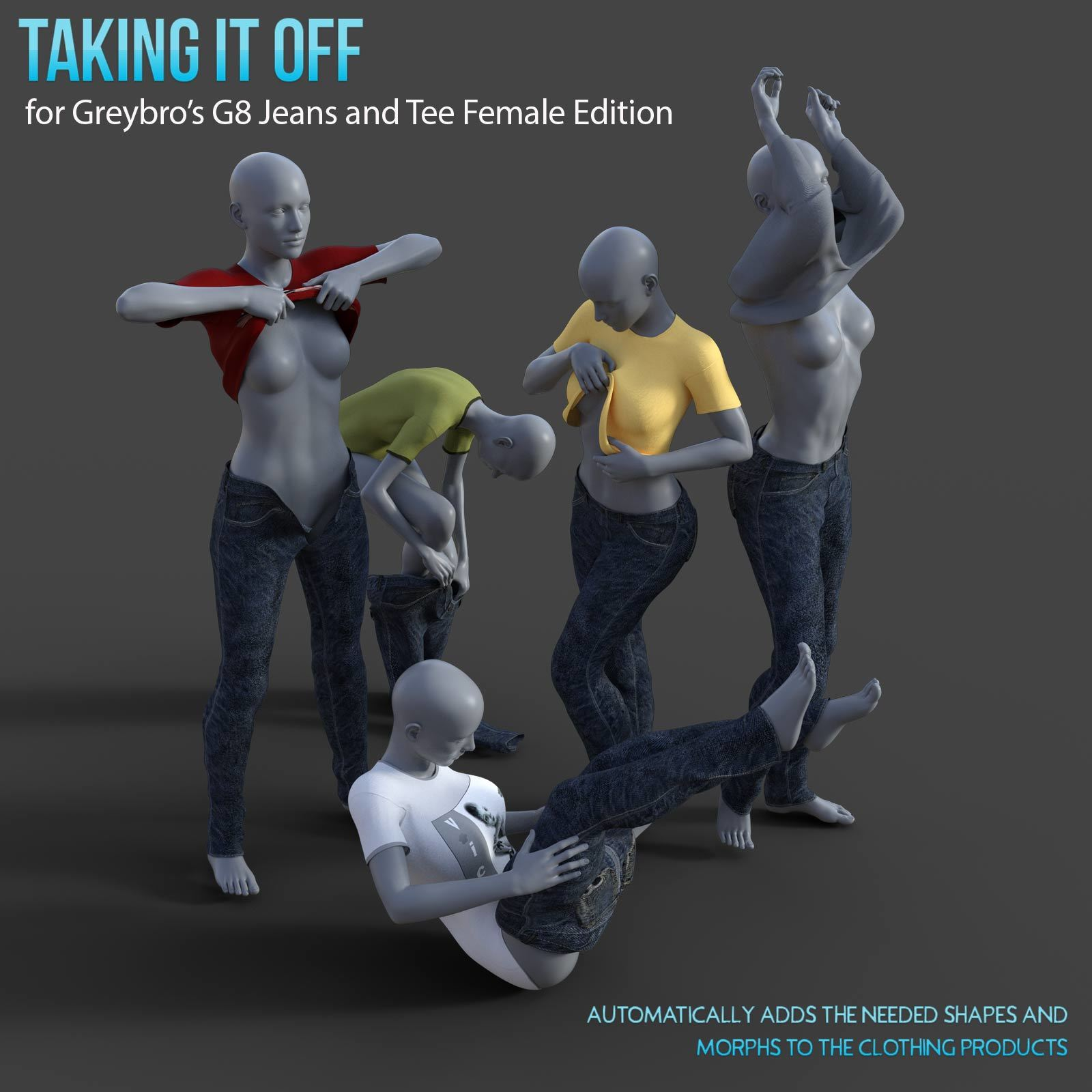 Taking It Off For Greybro's G8 Jeans and Tee Female Edition by Disciple3d