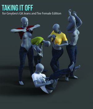Taking It Off For Greybro's G8 Jeans and Tee Female Edition 3D Figure Assets Disciple3d
