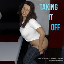 Taking It Off For Greybro's G8 Jeans and Tee Female Edition image 4