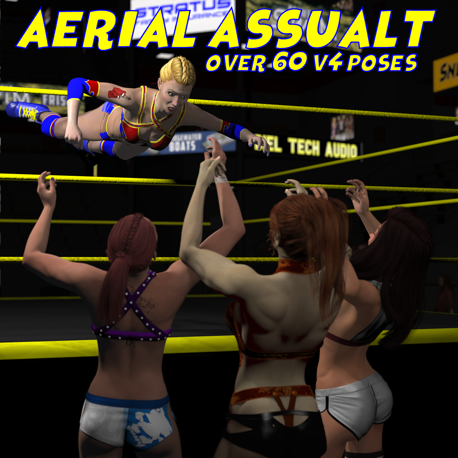 Aerial Attack Poses for V4 by DexPac