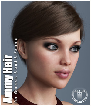 Ammy Hair for Genesis 3 and 8 Females 3D Figure Assets outoftouch
