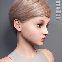 Ammy Hair for Genesis 3 and 8 Females image 2