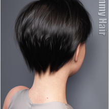 Ammy Hair for Genesis 3 and 8 Females image 3