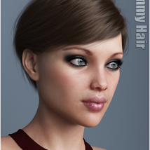 Ammy Hair for Genesis 3 and 8 Females image 5
