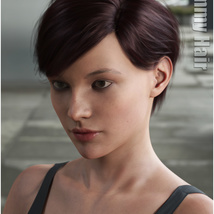 Ammy Hair for Genesis 3 and 8 Females image 10