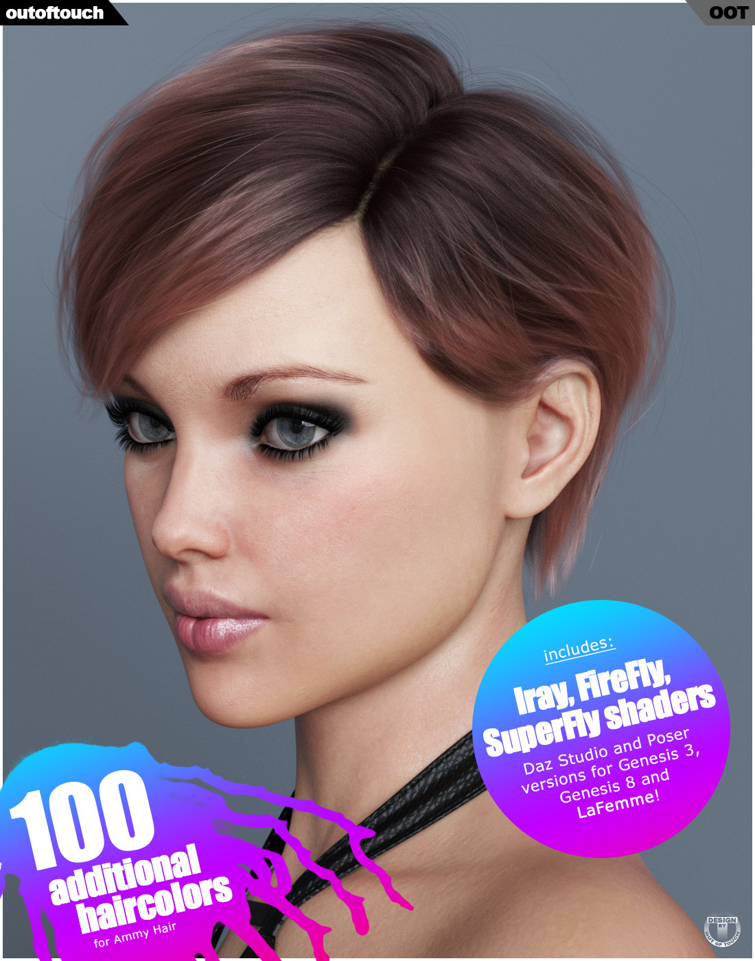 Ammy Hair Texture XPansion for Genesis 3 and 8 and LaFemme