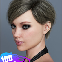 Ammy Hair Texture XPansion for Genesis 3 and 8 and La Femme image 2