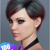 Ammy Hair Texture XPansion for Genesis 3 and 8 and La Femme image 5
