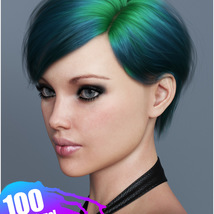 Ammy Hair Texture XPansion for Genesis 3 and 8 and La Femme image 6
