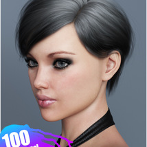 Ammy Hair Texture XPansion for Genesis 3 and 8 and La Femme image 8