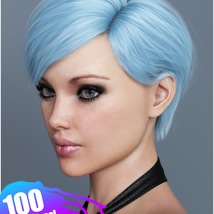 Ammy Hair Texture XPansion for Genesis 3 and 8 and La Femme image 9
