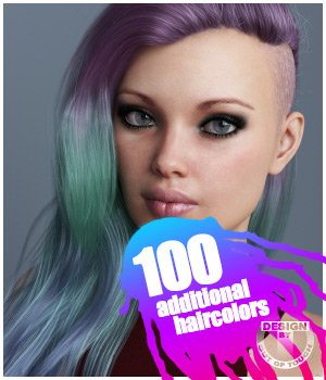 Xenya Hair Texture XPansion for Genesis 3 and 8 and La Femme 3D Figure Assets La Femme Pro - Female Poser Figure outoftouch