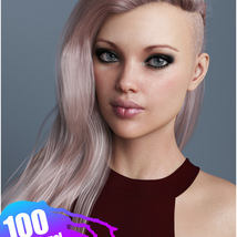 Xenya Hair Texture XPansion for Genesis 3 and 8 and La Femme image 4