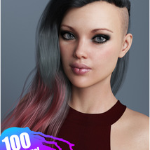 Xenya Hair Texture XPansion for Genesis 3 and 8 and La Femme image 7
