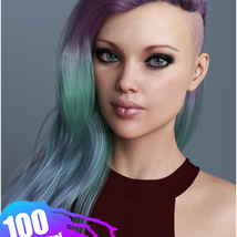 Xenya Hair Texture XPansion for Genesis 3 and 8 and La Femme image 8