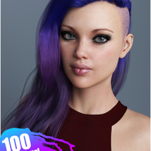 Xenya Hair Texture XPansion for Genesis 3 and 8 and La Femme image 9