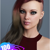 Xenya Hair Texture XPansion for Genesis 3 and 8 and La Femme image 10