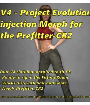 Project Evolution injection for Prefitter-CR2 Merchant Resources 3D Software : Poser : Daz Studio FVerbaas