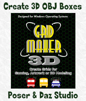 GRID-MAKER 3D for Windows 3D Software : Poser : Daz Studio Winterbrose