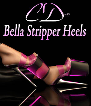 Bella Stripper Heels for G2F 3D Figure Assets curtisdway