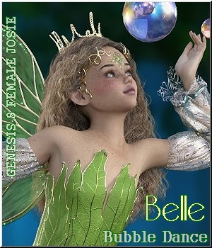 BELLE- BUBBLE-Dance 3D Figure Assets LUNA3D