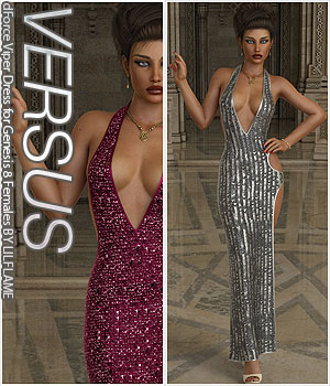 VERSUS - dForce Viper Dress for Genesis 8 Females 3D Figure Assets Anagord