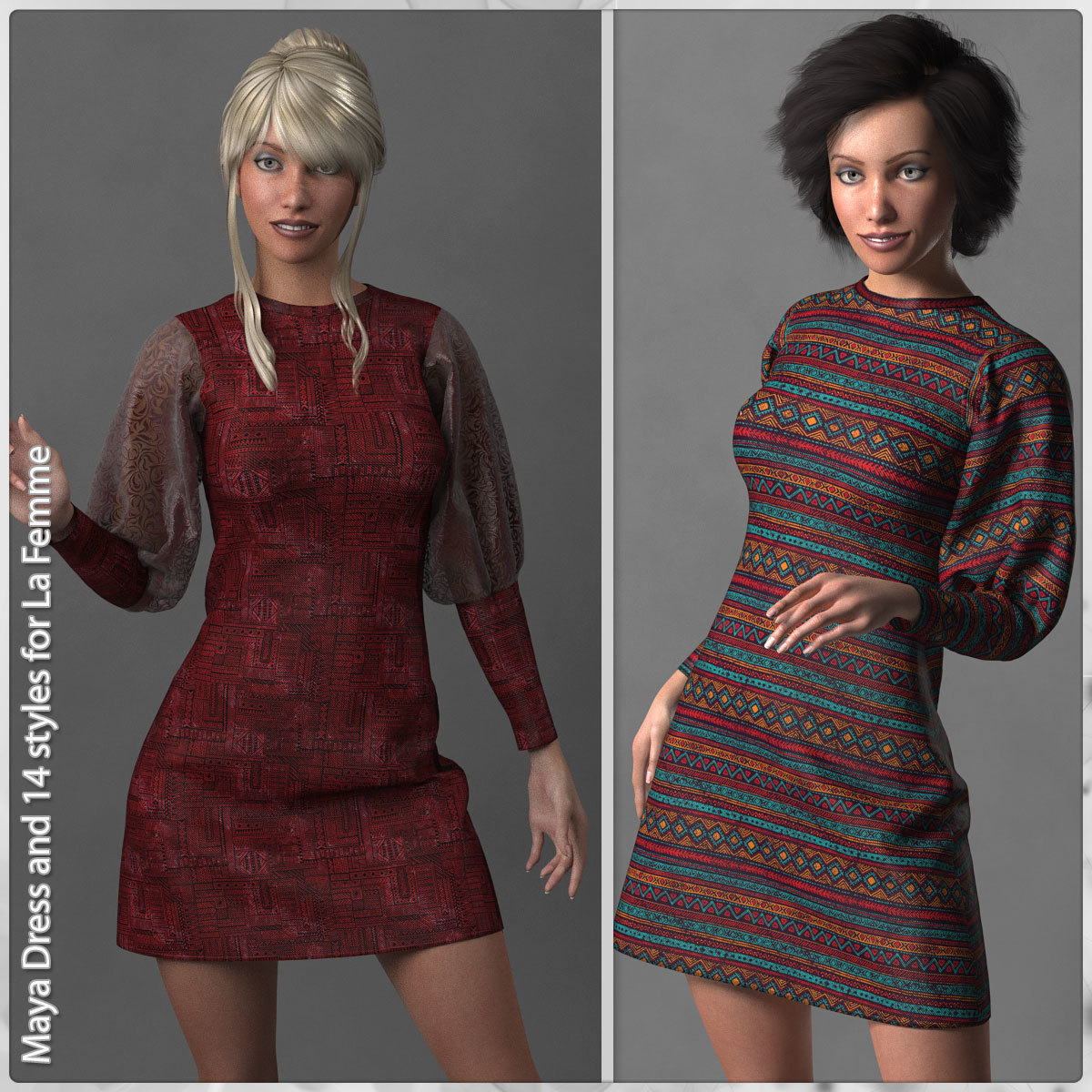 Maya Dress and 14 Styles for La Femme